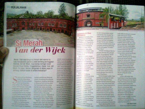 Tulisan perjalanan di Majalah Ummi edisi Agustus 2014
