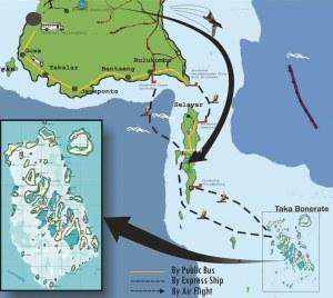 Peta Menuju Takabonerate (tntakabonerate.com)