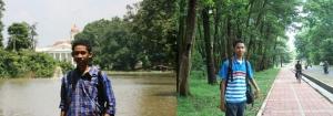 Dari kiri ke kanan: dari Kebun Raya Bogor lanjut ke Kampus UI, Depok